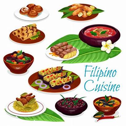Filipino Fruit Dishes Vector Meat Clipart Pastry