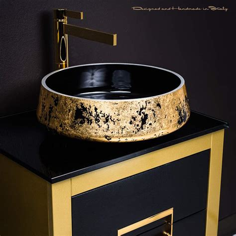 gold bathroom sink danya gold leather modern bathroom vanity 24 inch 12987