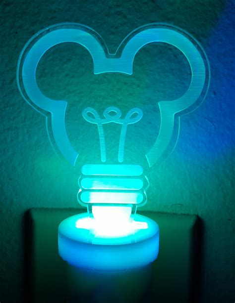 little night lights items similar to disney lights mickey mouse led night