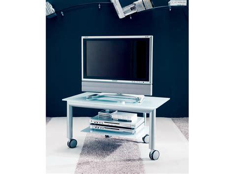 porta tv cristallo carrello porta tv in cristallo elios by bontempi casa