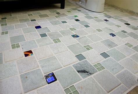 tile kitchen floor bathroom floor tiles with uneek glass fusions glass accent 4606