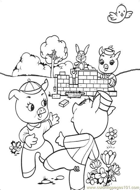 The Three Little Pigs 001 (3) Coloring Page Free Others