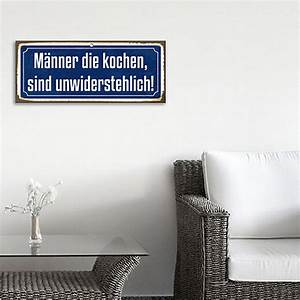 Männer Die Kochen Sind Unwiderstehlich : blechschild vintage 60 x 25 cm m nner die kochen sind unwiderstehlich bauhaus ~ Watch28wear.com Haus und Dekorationen