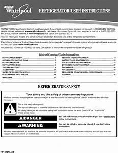 Whirlpool Gd5nvaxwa00 User Manual Side By Refrigerator