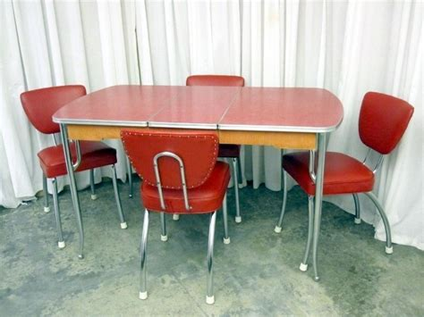 vintage chrome kitchen table and 4 chairs 1950