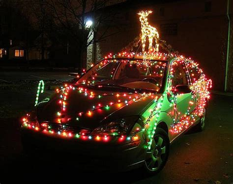 how to string car christmas lights on your vehicle for the