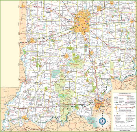 map  southern indiana  travel information