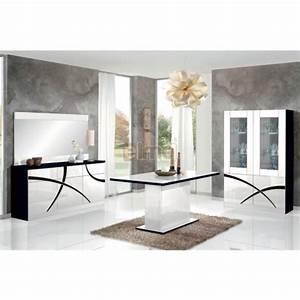 salle a manger contemporaine a motifs laque bicolore With salle À manger contemporaine avec ensemble salle À manger contemporain
