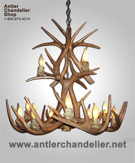 Antler Chandelier Shop by Faux Cast Antler Whitetail Deer Chandelier Rustic Ls