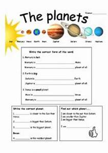 Elementary Worksheets Planets in Order - Pics about space