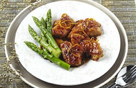 cuisine recette rapide ris de veau croustillants au caramel de miel et d agrumes