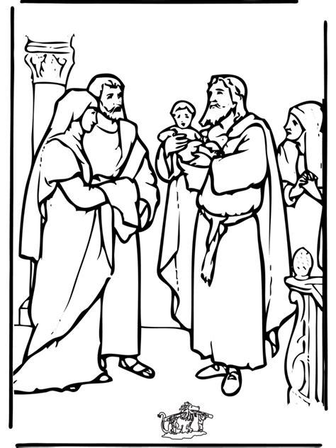 Tempel Kleurplaat by Baby Jezus In Tempel Bijbel Kleurplaten Nieuwe Testament
