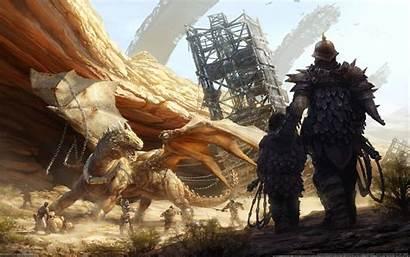 Medieval Dragon Fantasy Digital Age Inquisition Desktop