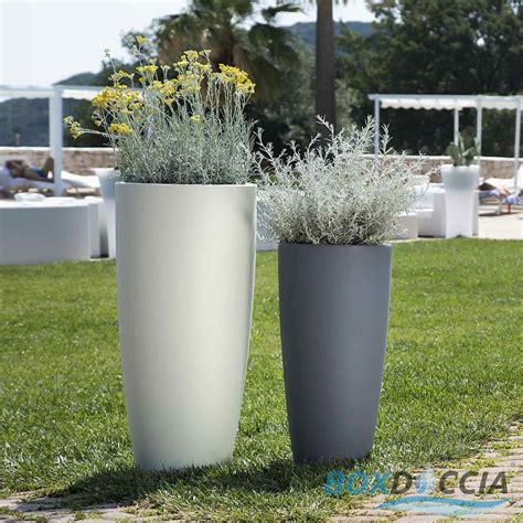 vasi da giardino in plastica vaso resina alto moderno tondo plastica pianta giardino