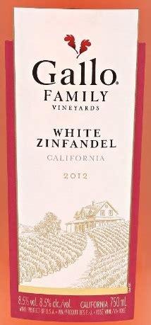 gallo family vineyards white zinfandel  expert wine