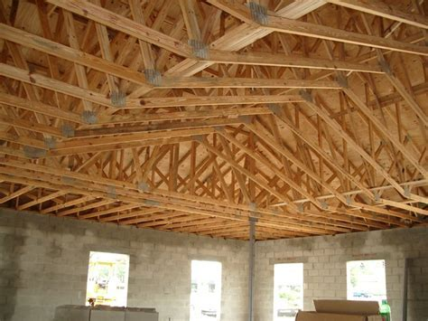 Scissor Truss before drywall   Under Construction