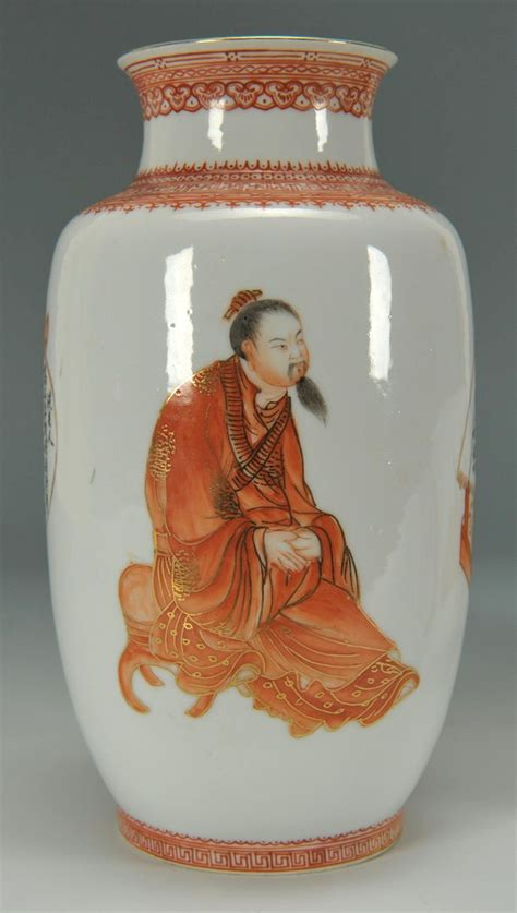lot  pair  chinese republic porcelain vases