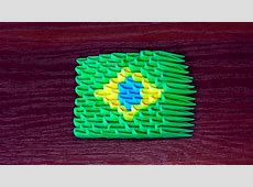 3D origami flag of Brazil Brazilian flag Tutorial YouTube