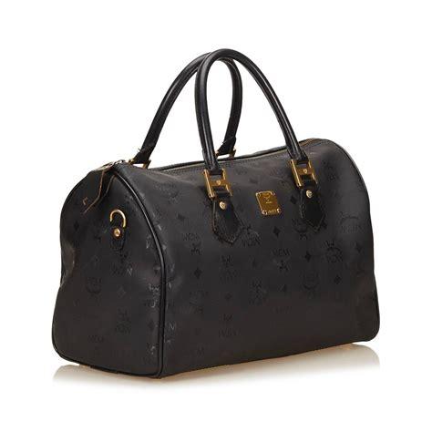 mcm black pvc hand bag  sale  stdibs