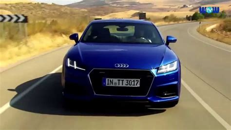 audi tt coupe  blue driving video youtube