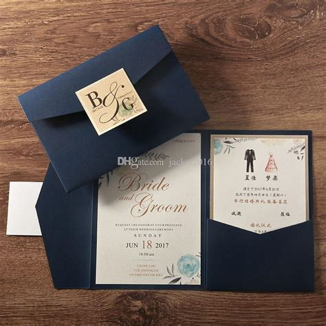 wedding invitations envelope style trifold pocket