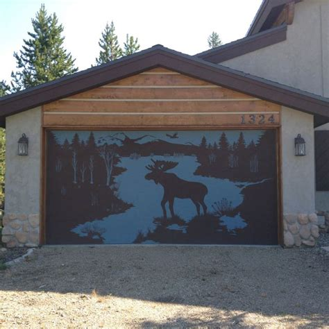 cool garage door stencil   home cool garages