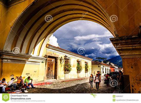 Iconic Arch Antigua Guatemala Editorial Photography