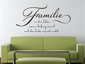 Wandtattoo Sprüche Familie : wandtattoo familie wo das leben seinen anfang nimmt ~ Frokenaadalensverden.com Haus und Dekorationen