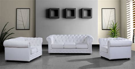 Decor Sofa Set by Modern White Leather Sofa Set