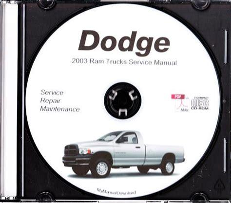 online car repair manuals free 2003 dodge ram 1500 spare parts catalogs 2003 dodge ram truck service manual cd rom