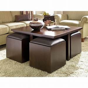 21 smart space saving ideas ultimate home ideas With coffee table with nested ottomans