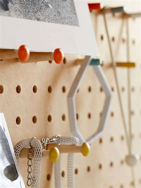 block design wooden peg board displays  favorite items