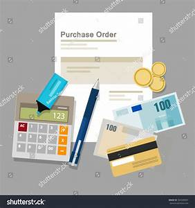Purchase Order Document Paper Money Company Stock Vector ...
