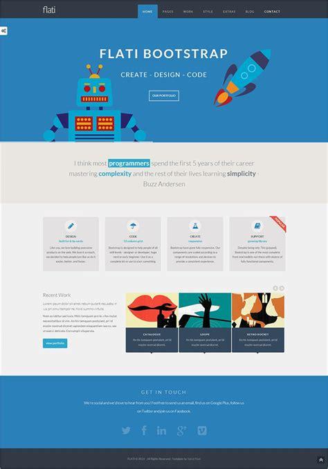 flat design website templates  premium