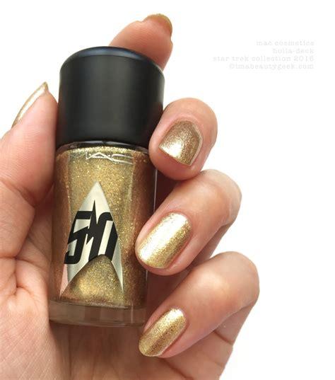 mac star trek nail polish swatches  beautygeeks