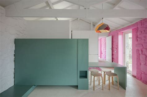 Colorful Barn House Redesigned For Rural Tourism