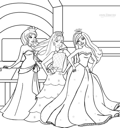 barbie princess coloring pages coolbkids