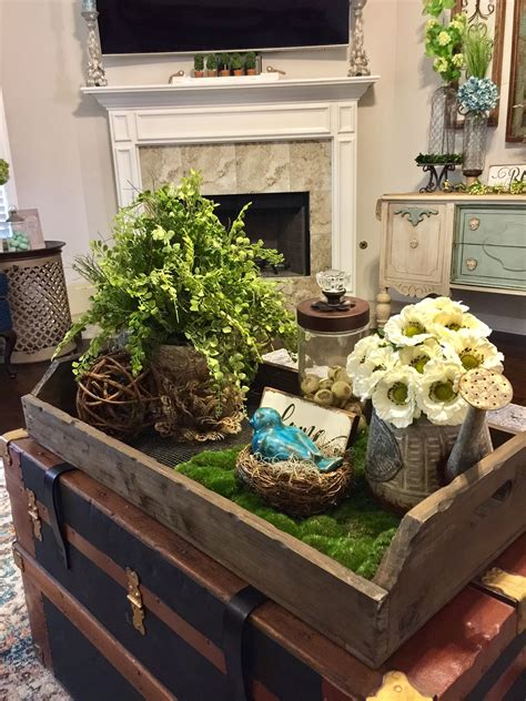 French decorating is stylish, comfortable, and very luxurious. Coffee Table decor- this coffee table is an old Antique ...
