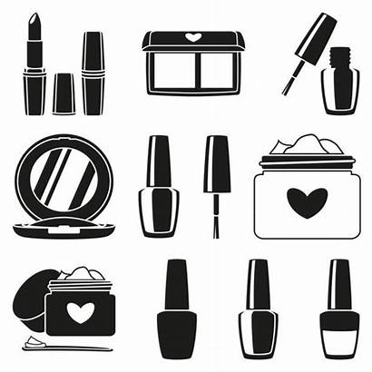 Vector Palette Cosmetic Clip Makeup Silhouette Illustrations