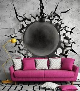 stunning papier peint insolite gallery amazing house With couleur moderne pour salon 17 1001 modales de papier peint 3d originaux et modernes