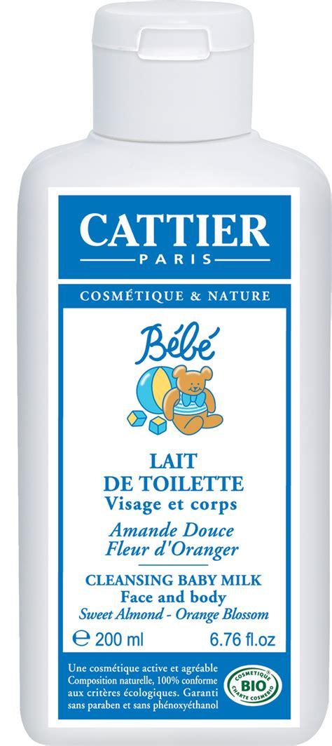 cattier lait de toilette b 233 b 233 visage corps amande