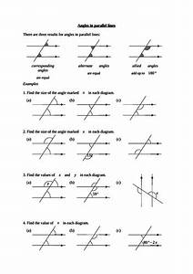 Parallel Lines And Remote Angle Worksheet Pdf
