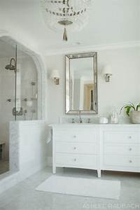 white marble bathroom Timeless White Marble Bathroom - Owens and Davis