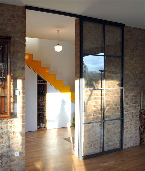 Schiebetüren Glas Wohnzimmer by Schlanke Stahl Glas Schiebet 252 R T 252 Ren Schie