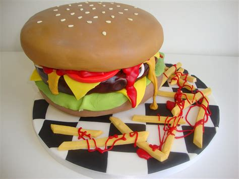 Burger Cake  Celebration Cakes Cakeology