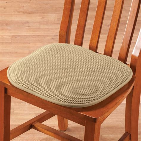 Memory Foam Chair Pads, Set of 2   Foam Cushions   Seat
