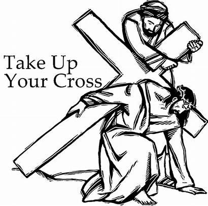Cross Take Jesus Follow Coloring Mark Deny