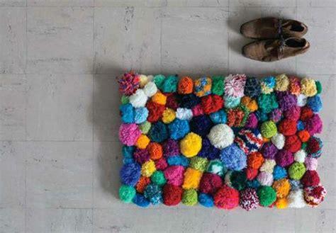 Pom Pom Teppich Diy Carpet And Floor Mats Colored And Colorful Living Fresh Design Pedia