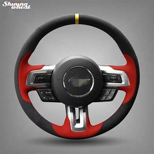 Shining wheat Hand stitched Black Suede Steering Wheel ...