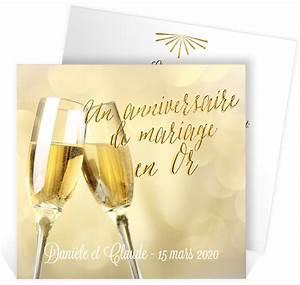 Faire Part Anniversaire 50 Ans : invitation anniversaire de mariage pour faire la f te pour ~ Edinachiropracticcenter.com Idées de Décoration
